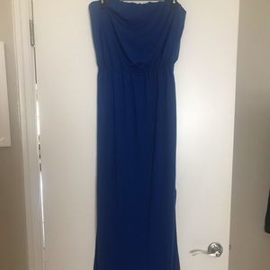 Casual Royal Blue Maxi Dress w/ Neon Back Detail